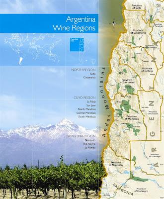 Map of Argentina Wine Regions