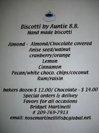 Biscotti by Auntie B.B.