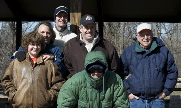 Matthew Riccetti, Rick, Curg, Bill, John and Jerry at the Bruewer Big Year Winter Picnicn (2009)