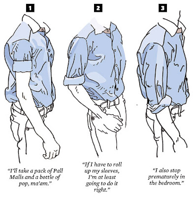 How to roll your goddamn sleeves malefashionadvice for How to roll up sleeves on women s dress shirt