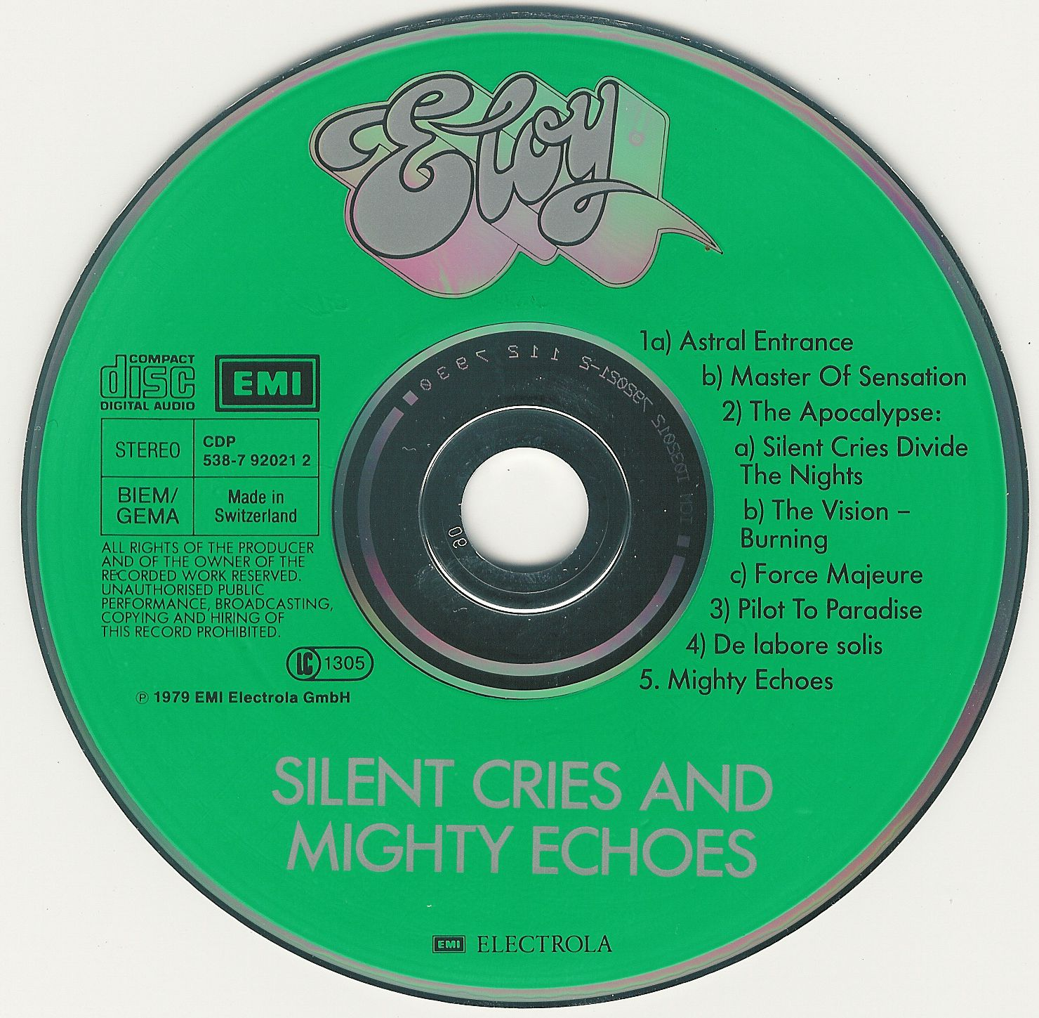 Eloy Silent Cries And Mighty Echoes