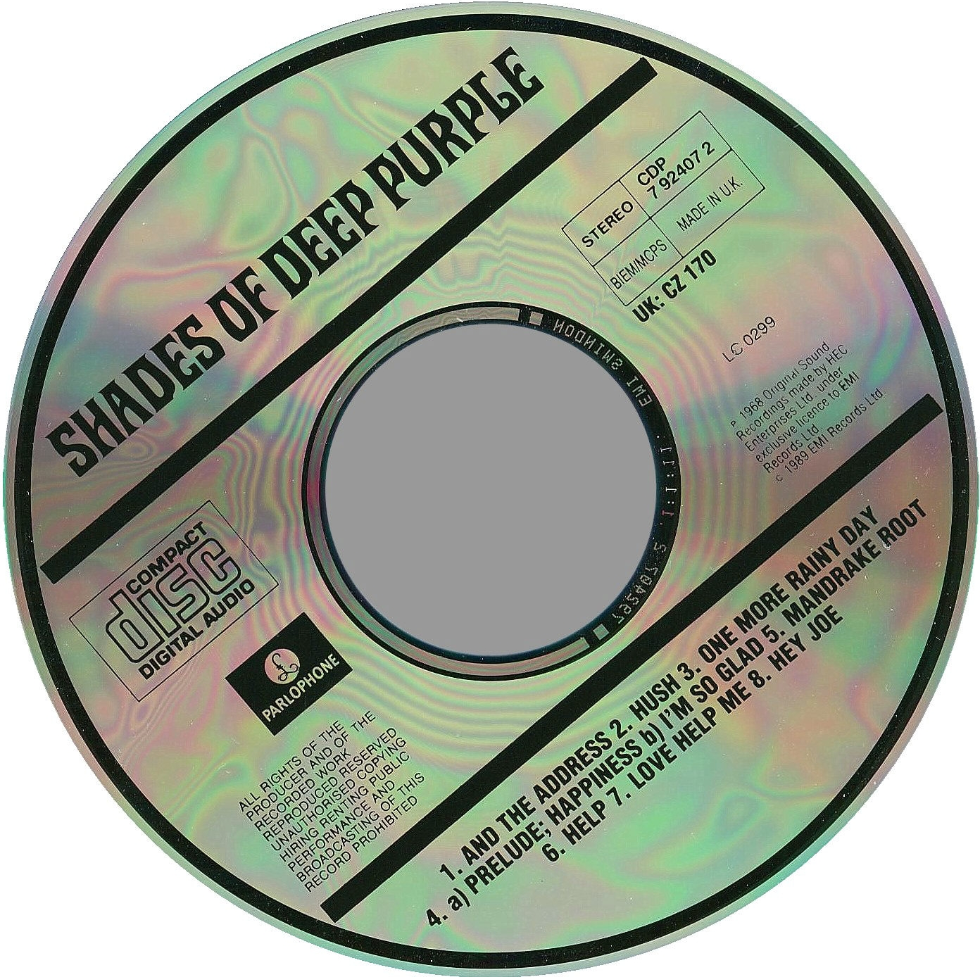 Deep Purple - Shades of Deep Purple (1968) Deep+Purple+-+Shades+Of+Deep+Purple-CD