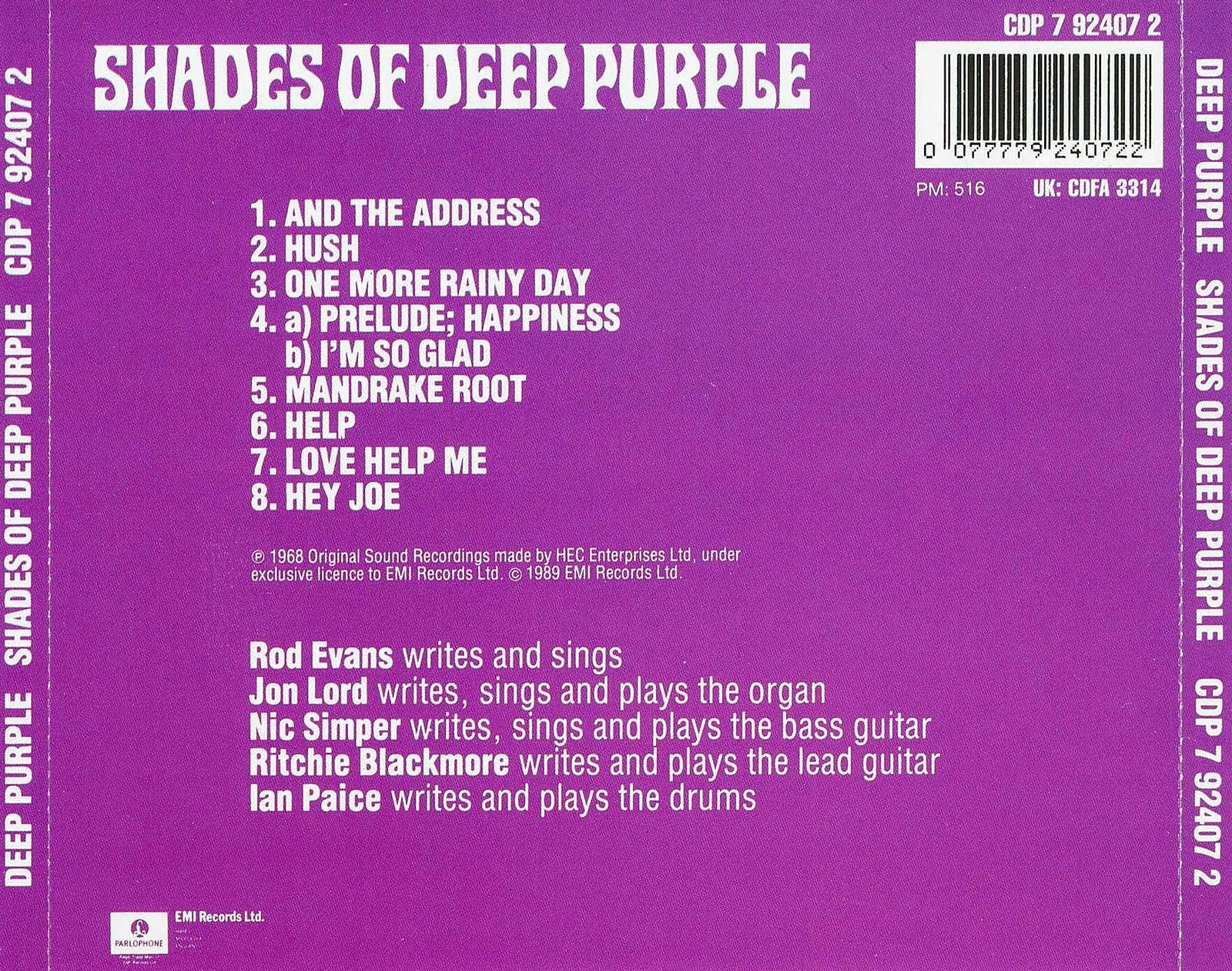 musicotherapia deep purple shades of deep purple 1968