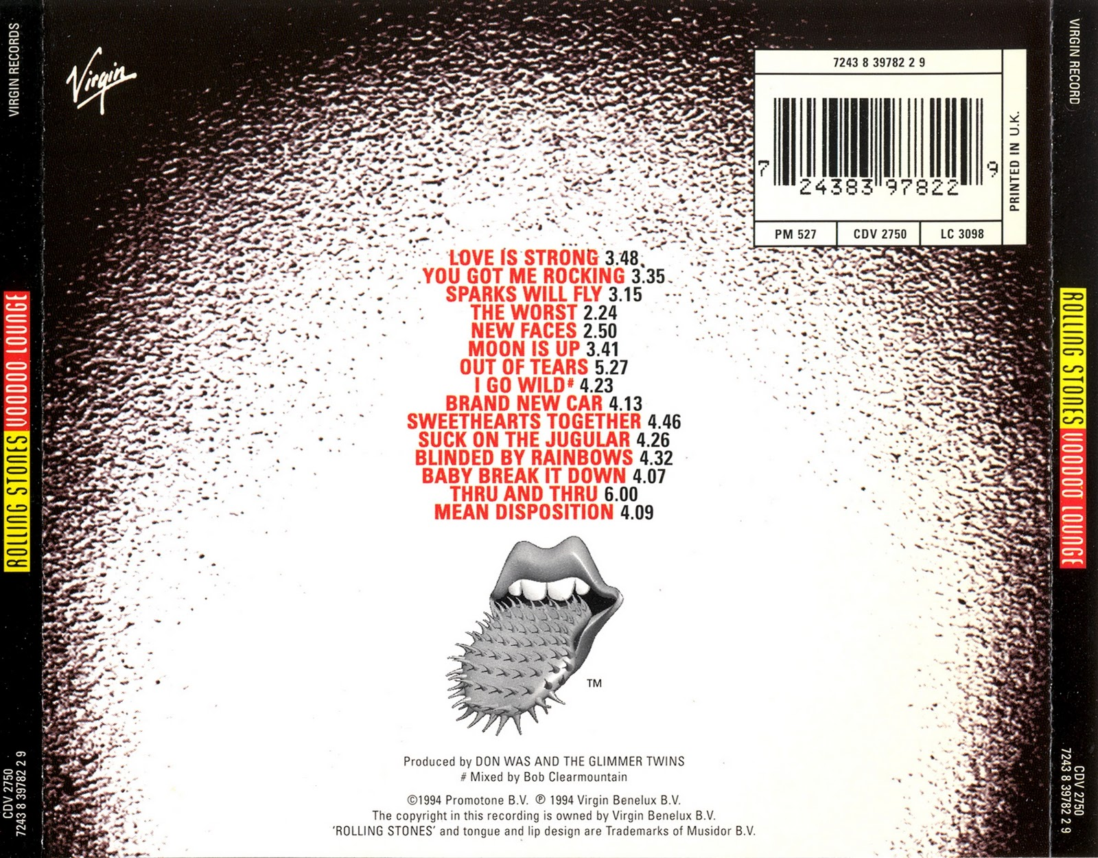 Musicotherapia The Rolling Stones Voodoo Lounge 1994