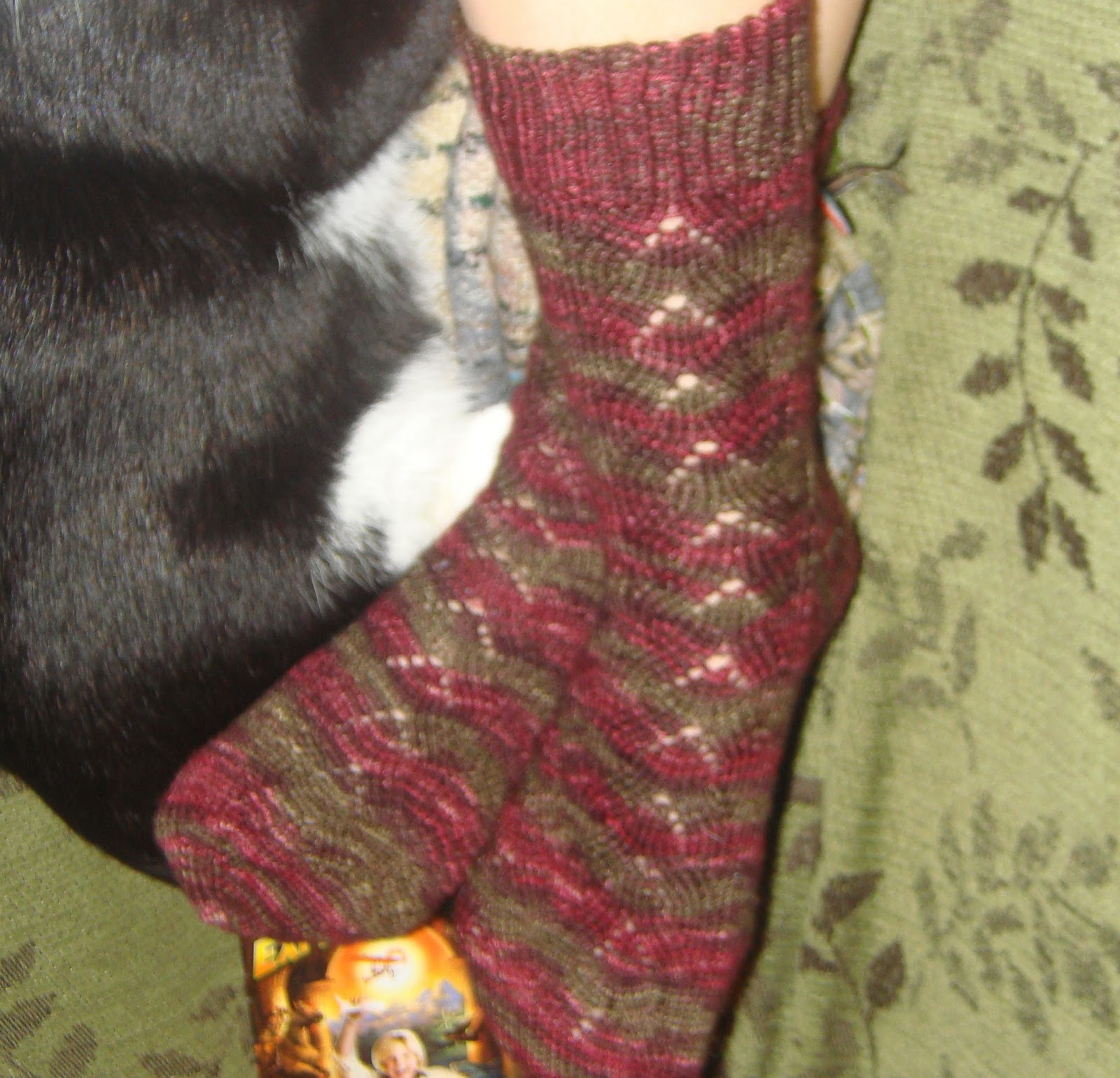 Kittenish Knitting : Knitted thoughts sock love monkey see do