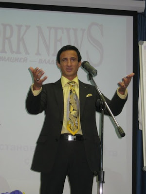 Smiljan Mori conducting a busines seminar