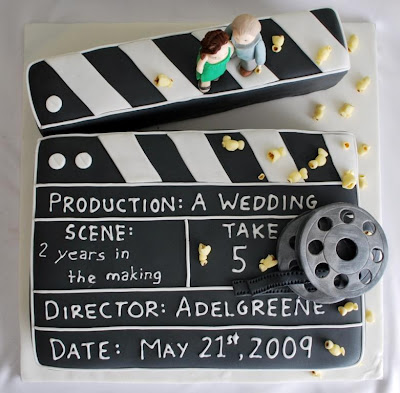 Movie themed wedding cakes of epic proportions