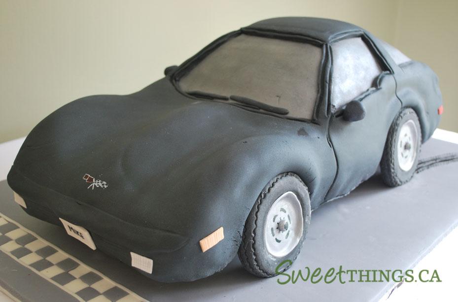 SweetThings 50th Birthday Party 1979 Corvette Cake