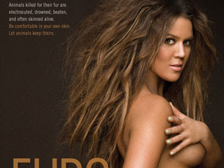 Khloe Kardashian Gets Naked For PETA