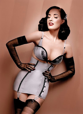 Dita Von Teese Smoking Hot Wonderbra Photo Shoot