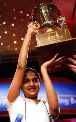 Kavya Shivashankar Wins Spelling Bee 2009 By Spelling Laodicean