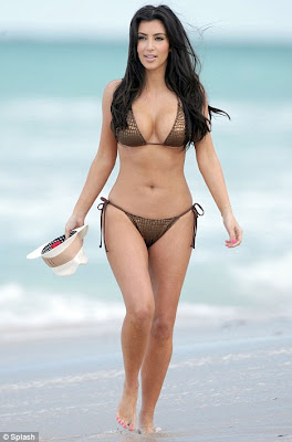 Kim Kardashian sexy, Hot Bikini pics in Miami beach