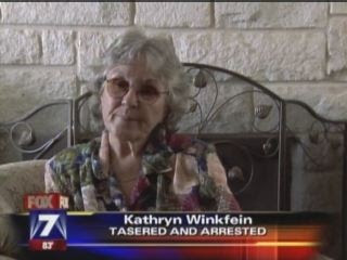 Kathryn Winkfein,72 year Old Woman Tasered During Traffic Stop