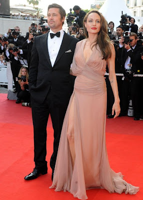 Brad Pitt and hot Angelina Jolie at cannes