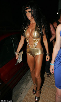 sexy Katie Price in hot golden outfit at Ibiza's Boho nightclub