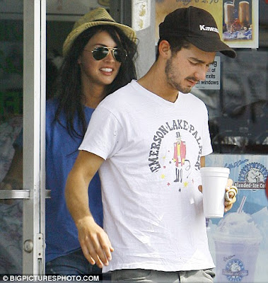 Shia LaBeouf and his beautiful Transformers co-star Megan Fox