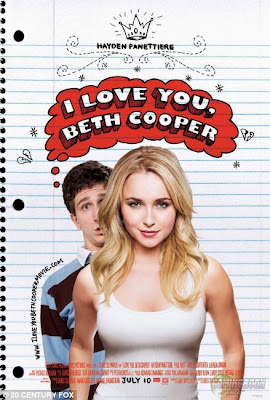 Hayden Panettiere with bigger boobs for the poster of her new movie I Love You Beth Cooper