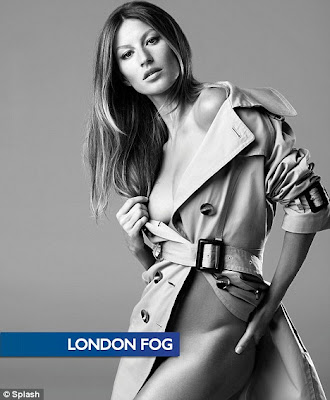 Gisele Bundchen Strips For Hot London Fog Photo Shoot