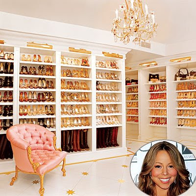 Seekingdecor celebrity closets for Walk in closet square footage