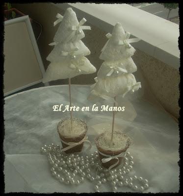 El arte en las manos arbol de navidad con telas - Arboles de navidad de tela ...