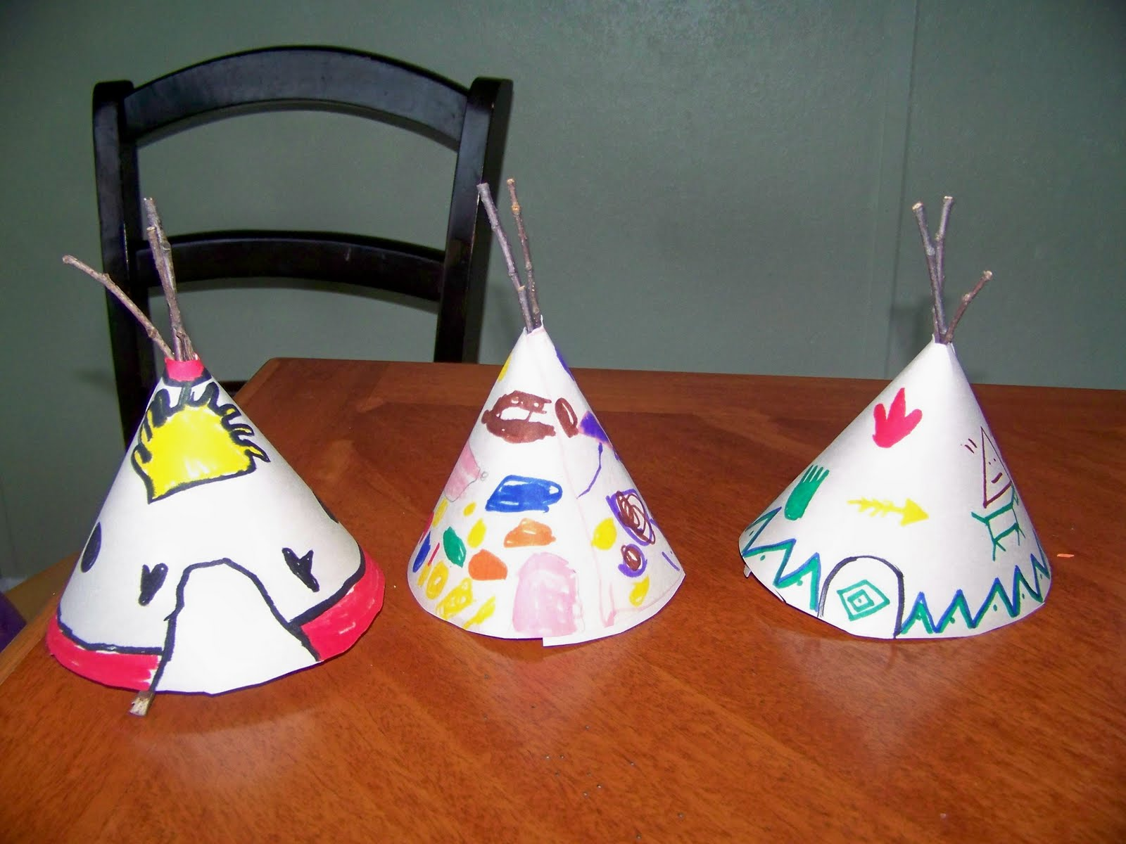 my four girls teepee craft. Black Bedroom Furniture Sets. Home Design Ideas