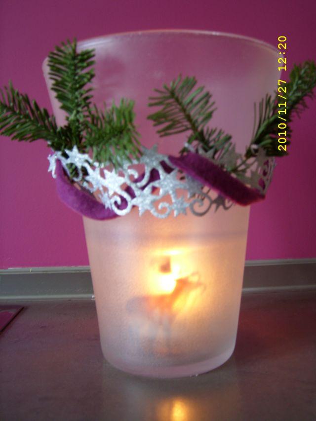 Pader deko perle aus herbstdeko wird weihnachtsdeko - Weihnachtsdeko lila ...