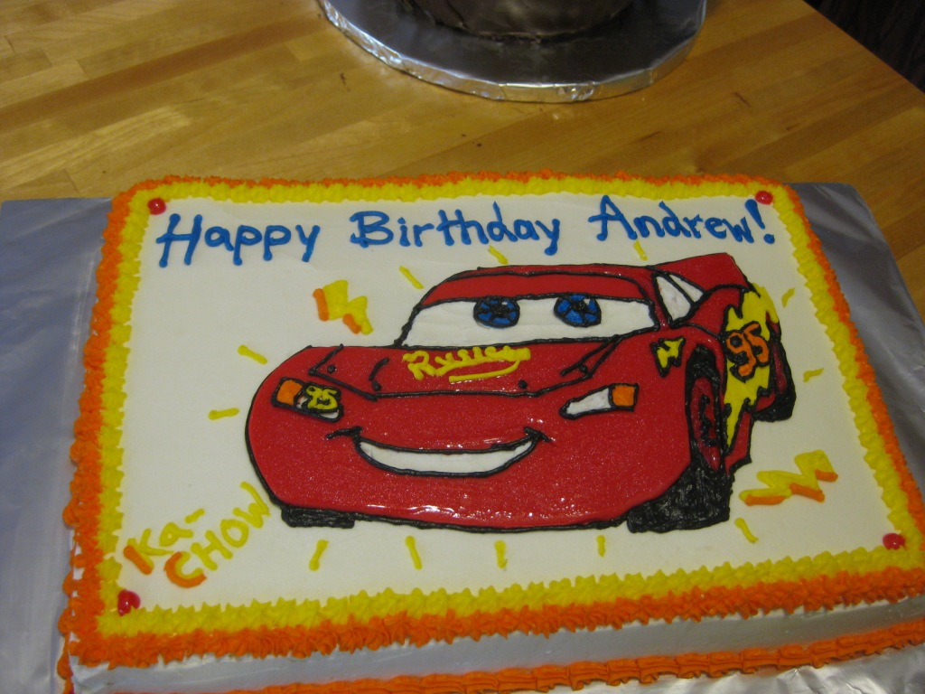Cake Attempts Lightning McQueen Sheet Cake