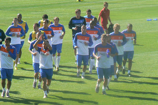 Dutch players in training