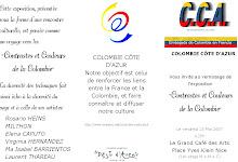 """Virginia Hernandez en Exposicion """"Contrastes y Colores de Colombia"""", Niza 2007"""