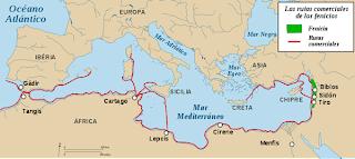 Rutas del comercio fenicio