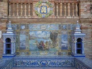 Plaza de España, Sevilla - Azulejo de Canarias