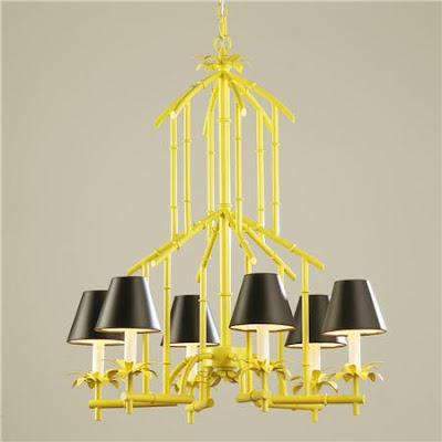 Left coast luxe faux bamboo chandeliers aloadofball Images