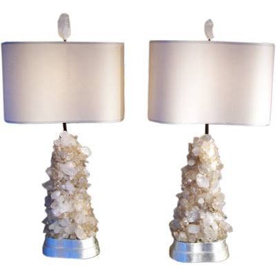 Left Coast Luxe Rock Crystal Lamps