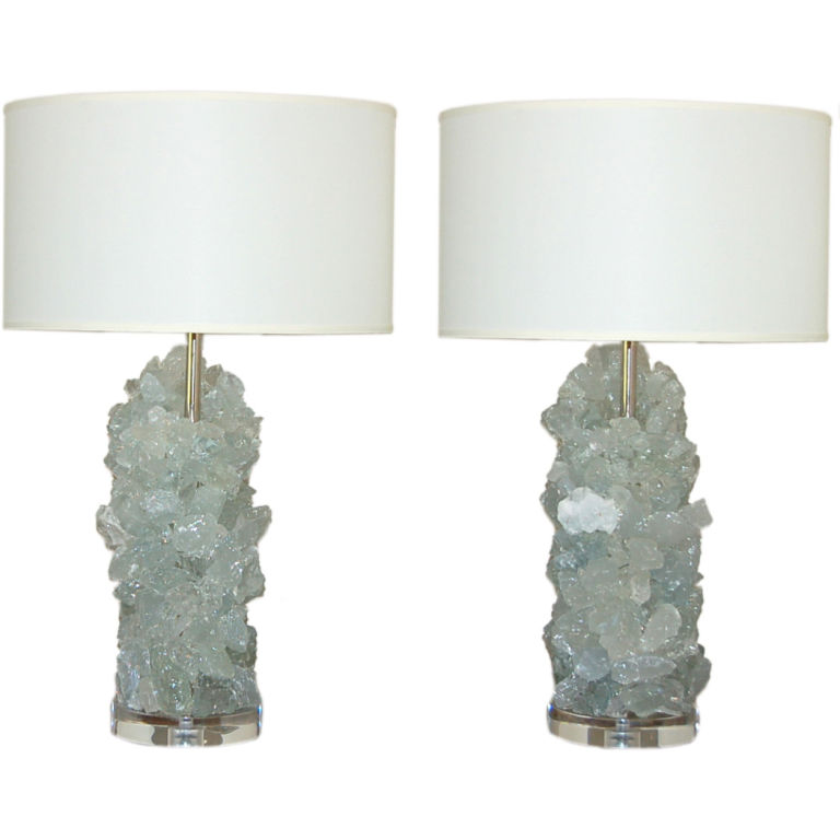 Left coast luxe rock crystal lamps for Rock lamp