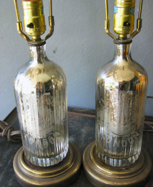via ebay - Mercury Glass Lamps