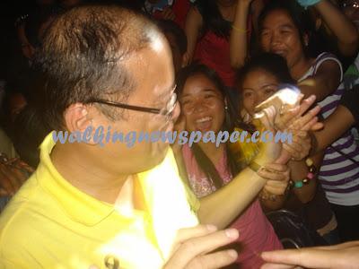Aquino, Roxas arrive in Dumaguete City