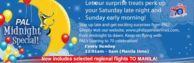 Philippine AirLines Sunday Seat Sale Special