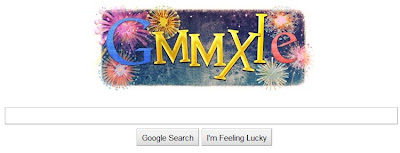 Google welcomes the New Year, 2011