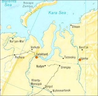 Yamal Peninsula Map