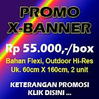 Promo X Banner Murah