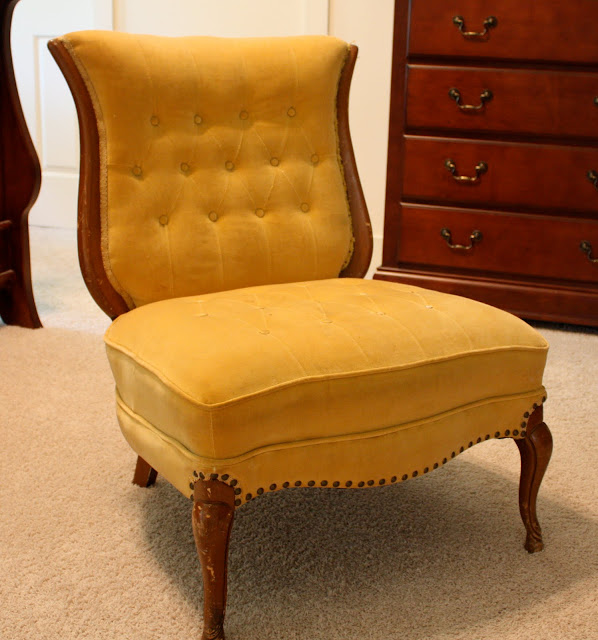 Vintage Slipper Chair - The Yellow Cape Cod: Vintage Slipper Chair