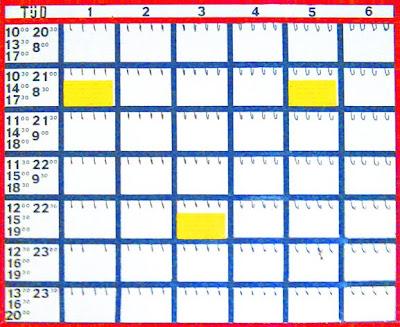 ralf kwaaknijd, mondrianification of Tennis Timetable, 2008