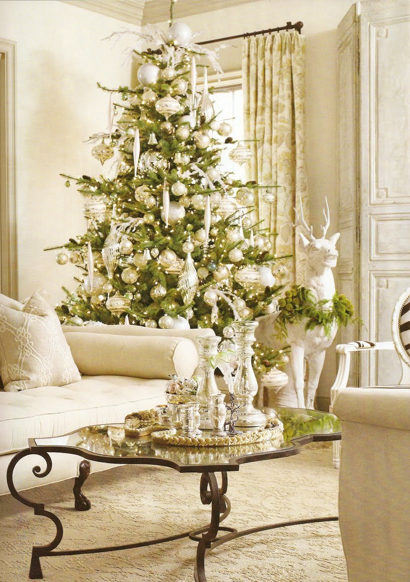 2 look pretty have a christmas tree you can be proud of for Silver ornaments for living room