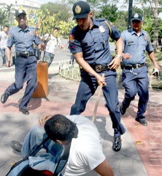 Philippine Policeman Brutality