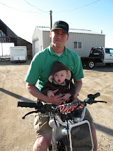 Renner and POps on the pit bike!