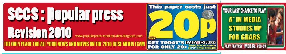 Popular Press Revision: Media GCSE Exam