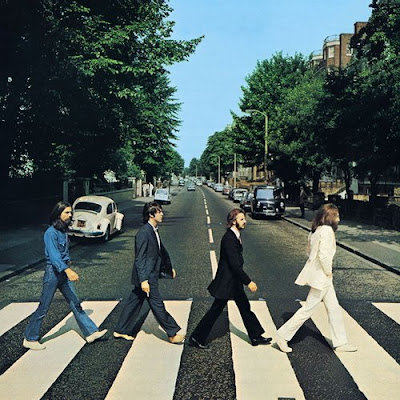 Album Sleeves which have emulated the iconic Beatles Abbey Road Album.