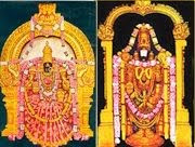 Thirupathi Venkatesa Perumal With Godess Lakshmi