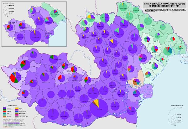 Harta etniilor din România în anul 1941