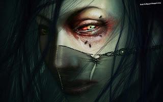 Black Widow Gothic Girl wallpaper